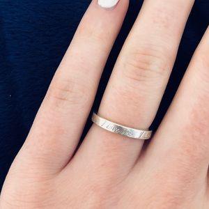 "Tiffany ""I Love You"" Silver Ring"